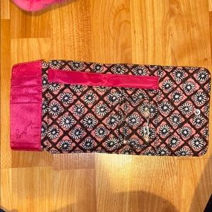 Vera Bradley: Light Pink and White Floral Wallet.